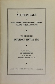 Fourteenth auction sale : catalogue of rare coins, tokens, paper money, miscellaneous gold and silver ... [05/22/1943]