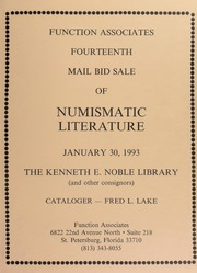 Fourteenth Mail Bid Sale of Numismatic Literature