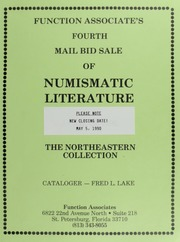 Fourth  Mail Bid Sale of Numismatic Literature