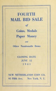 Fourth mail bid sale of coins, medals, paper money and other numismatic items. [06/12/1941]