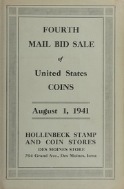 Fourth Mail Bid Sale of United States Coins (August 1941)