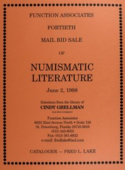 Fourtieth Mail Bid Sale of Numismatic Literature