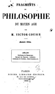 Fragments philosophiques pour faire suite aux cours de l-histoire de la philosophie