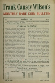 Frank Causey Wilson's Monthly Rare Coin Bulletin