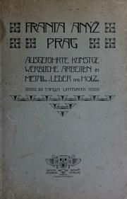 Franta Anýž, Prag : ausgeführte kunstgewerbliche Arbeiten in Metall, Leder und Holz : 35 Tafeln Lichtdruck