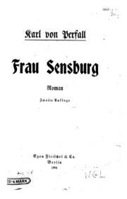 Frau Sensburg: Roman
