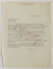 Harley L. Freeman Correspondence, File 1, 1943-1949