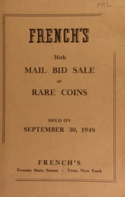 French's 36th mail bid sale of rare coins. [09/30/1948]