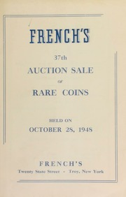 French's 37th auction sale of rare coins. [10/28/1948]