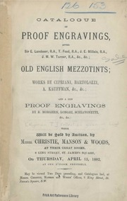 Proof engravings