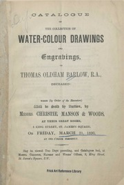 Water-colour drawings and engravings