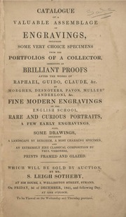 Valuable assemblage of engravings