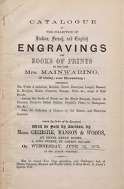 Engravings and books of prints