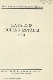 Katalogs rudens izstadei 1924