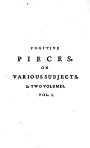 Essay on fugitive pieces