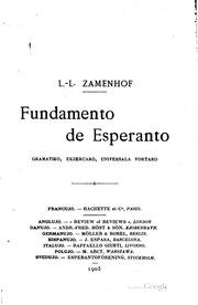 Fundamento de Esperanto, gramatiko, ekzercaro, universala