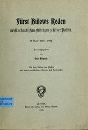 Vol 3: Fürst Bülows Reden nebst urkundlichen Beiträgen zu seiner Politik