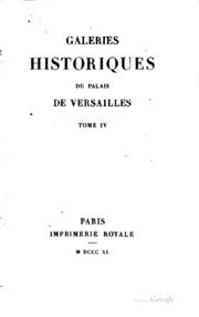 Galeries historiques du Palais de Versailles