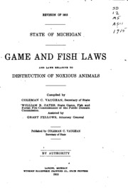 Game and fish laws and laws relative to destruction of for Wyoming game and fish regulations