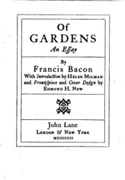 francis bacon essay on gardens