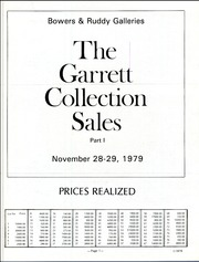 Garrett Collection Sales for the Johns Hopkins University