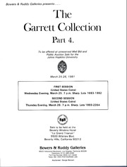 Garrett Collection Sales for the Johns Hopkins University, Sale 4