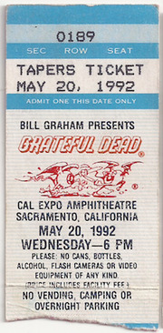 Grateful Dead Live at Cal Expo on 1992-05-20 : Free Download