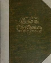 Gedenkbuch zu Wilhelm Steinhausens sechzichstem Geburtstag, am 2. Februar 1906
