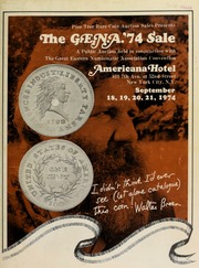 The G.E.N.A. '74 sale, featuring colonial, fractional, and large size U.S. notes, Palestine and Israel coins and medals, U.S. type and pattern coins, and the Donald Hoppe gold sale, to be publicly auctioned ... [09/18-21/1974]