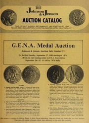G.E.N.A. Medal Auction: Auction Sale Number 12