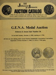 G.E.N.A. Medal Auction: Sale Number 20