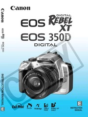 Canon EOS Digital Rebel XT and EOS 350D Instruction Manual