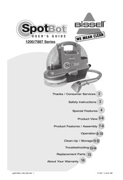 bissell spotbot user s guide 1200 7887 series bissell free rh archive org bissell spotbot pet instruction manual Bissell Portable Spot Cleaner Manual