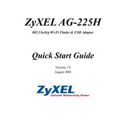 ZyXEL AG-225H 802.11a-b-g W-Fi Finder and USB Adapter Quick Start Guide