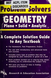the statistics problem solver research and education association  borrow the geometry problem solver