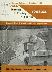 Georgia State Game and Fish Commission Season, Bag, and ...