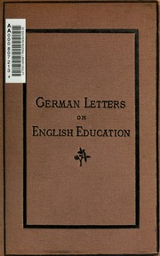 German letters on English education : Wiese, L  (Ludwig