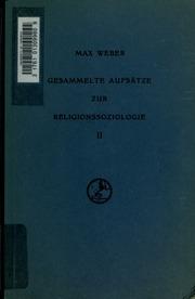 Vol 2: Gesammelte Aufsätze zur Religionssoziologie