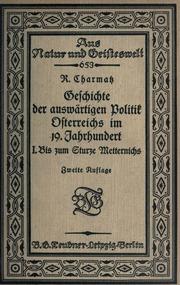 Vol 1: Geschichte der auswärtigen Politik Osterreichs im 19. Jahrhundert