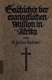 Geschichte der evangelischen Mission in Afrika