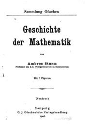 Geschichte der Mathematik: Neudruck
