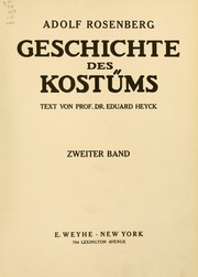 Vol vol. 2: Geschichte des Kostüms