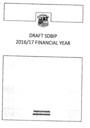 WC051 Laingsburg Draft SDBIP 2016-17