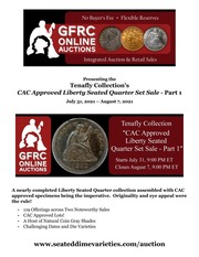 Tenafly Collection's CAC Approved Liberty Seated Quarter Set Sale - Part 1