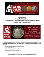 Tenafly Collection's CAC Approved Liberty Seated Quarter Set Sale - Part 2
