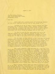 Gibbs Correspondence: 1947