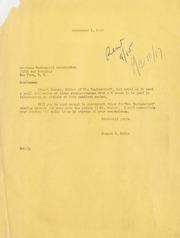Gibbs Correspondence: 1949