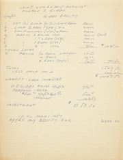Gibbs Correspondence: 1953
