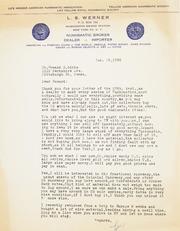 Gibbs Correspondence: 1958