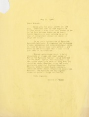 Gibbs Correspondence: 1960